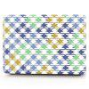 Computer Shell Laptop Case Keyboard Film for MacBook New Pro 15.4 inch Touch 2016 3D Square Geometric Figure - BLUE
