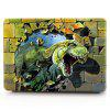 Computer Shell Laptop Case Keyboard Film for MacBook  Pro 13.3 inch 3D Tyrannosaurus - GREEN
