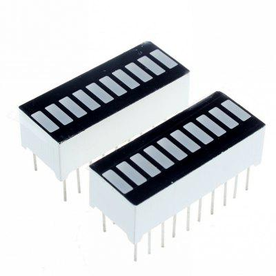 2Pcs 10 Segment Light Bar Graph LED Display Module