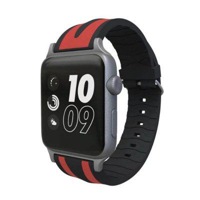 Silicone Replacement Strap for iWatch Series 3 / 2 / 1 Band Sport 38mmSmart Watch Accessories<br>Silicone Replacement Strap for iWatch Series 3 / 2 / 1 Band Sport 38mm<br><br>Package Contents: 1 x Watch Band with Adapter<br>Package size: 15.00 x 6.00 x 1.00 cm / 5.91 x 2.36 x 0.39 inches<br>Package weight: 0.0170 kg<br>Product size: 12.00 x 3.00 x 1.00 cm / 4.72 x 1.18 x 0.39 inches<br>Product weight: 0.0160 kg