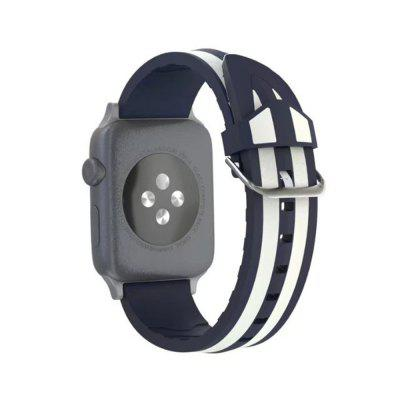 Silicone Replacement Strap for iWatch Series 3 / 2 / 1 Band Sport 42mm