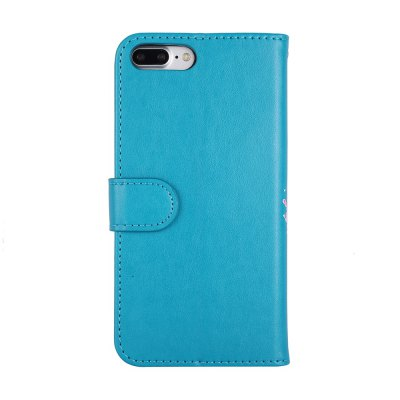 Flamingo Pattern PU Leather Wallet Case for iPhone 7 Plus mercury goospery milano diary wallet leather mobile case for iphone 7 plus 5 5 grey