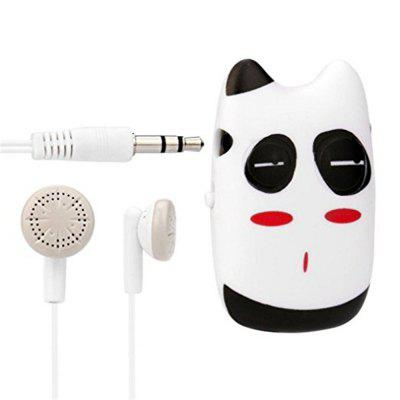 Super Cute pattern USB Mini MP3 Player Support 32GB Micro SD TF Card + Earphone