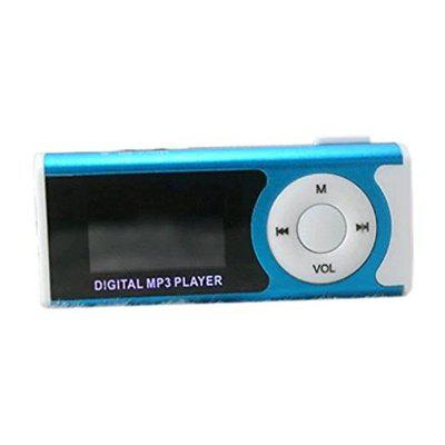 Compact MP3 Player Support 16GB Micro SD TF Card USB Clip Mini LED Portable LCD
