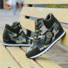 womens shoes Increased slope with camouflage wedge hidden heel sneakers - GREEN
