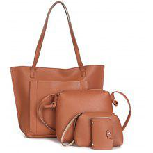 Women's Shoulder Bag Classy Faux Leather All Match Bags Set