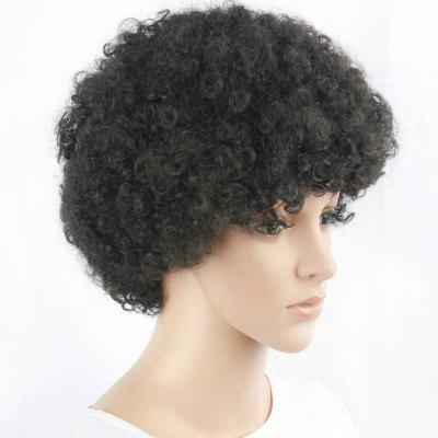 Black Lady Fluffy Short Hair Exploding Head Synthetic Wig 2016 cheap wig women lady scheap short