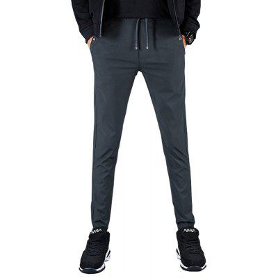 Men'S Slim Solid Color Casual Trousers