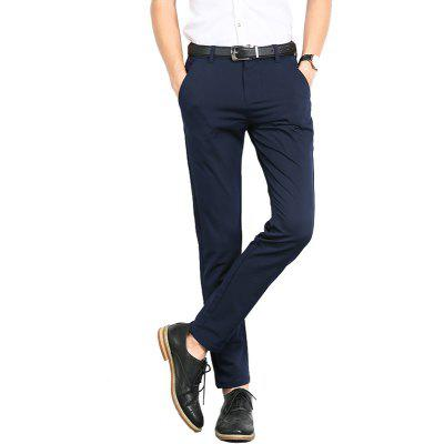 Men'S Solid Color Stretch Trousers