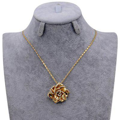18k Gold-Plated Rose Pendant Necklace диски helo he844 chrome plated r20