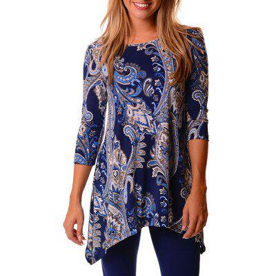 Fashion Print Messy Blouse