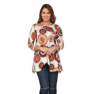 Printed Seven Quarter Sleeve Blouse