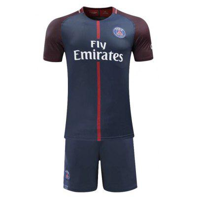 Combinaison à manches courtes Paris Two Away Home Football Suit