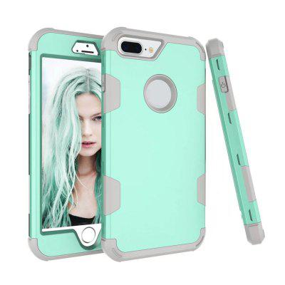 Color Silicone PC Case for iPhone 7 Plus / 8 PlusiPhone Cases/Covers<br>Color Silicone PC Case for iPhone 7 Plus / 8 Plus<br><br>Compatible for Apple: iPhone 7 Plus, iPhone 8 Plus<br>Features: Back Cover, Bumper Frame, Anti-knock, Dirt-resistant, FullBody Cases<br>Material: PC, Silicone<br>Package Contents: 1 x Phone Case<br>Package size (L x W x H): 17.00 x 9.00 x 2.00 cm / 6.69 x 3.54 x 0.79 inches<br>Package weight: 0.0700 kg<br>Style: Novelty, Mixed Color, Funny, Cool, Colorful