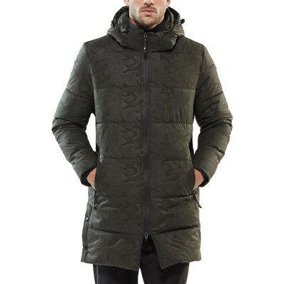 Winter Long Padded Overcoat for Men'S Cotton Padded Clothes