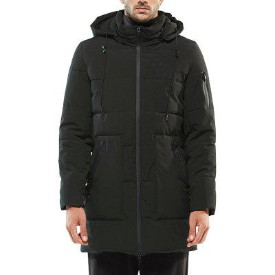 Winter Leisure Men'S Coats in The Long Thick Cotton Padded Jacket