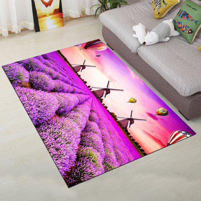 Buy PURPLE 80X120CM Fashion Personality Lavender Design Living Room Carpet for $46.36 in GearBest store