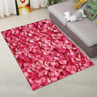 Buy ROSE RED 140X200CM Fashion Personality Rose Petal Pattern Carpet for Living Room Bedroom for $93.35 in GearBest store