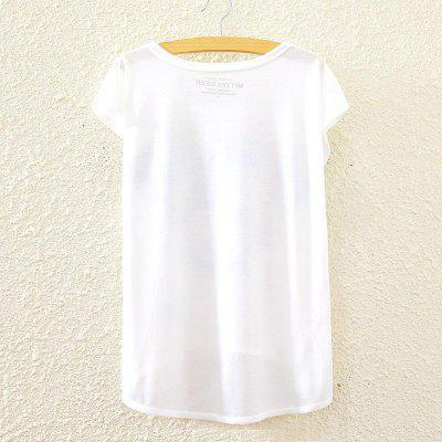 Summer New Graphic Digital Print Short T Shirt Blouse Loose Ladies White T-shirt Short Sleeve Cotton Blended Tops Outwear for WomenTees<br>Summer New Graphic Digital Print Short T Shirt Blouse Loose Ladies White T-shirt Short Sleeve Cotton Blended Tops Outwear for Women<br>