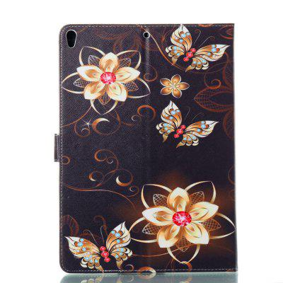 Golden butterfly flower For iPad Pro 10.5 Case PU Leather Slim Smart Cover For Apple iPad Pro 10. 5 g case slim premium чехол для apple ipad mini 4 white