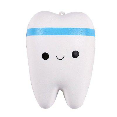Cute Cartoon Tooth Pendant Squishy Toy Slow Rebound Stress Reliever