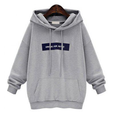 Buy GRAY M Loose And Large Long Sleeve Hoodie for $18.53 in GearBest store