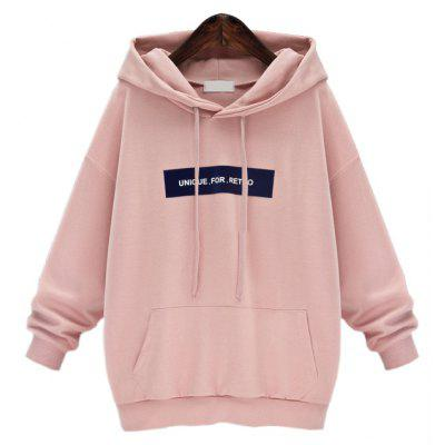 Buy PINK M Loose And Large Long Sleeve Hoodie for $18.53 in GearBest store