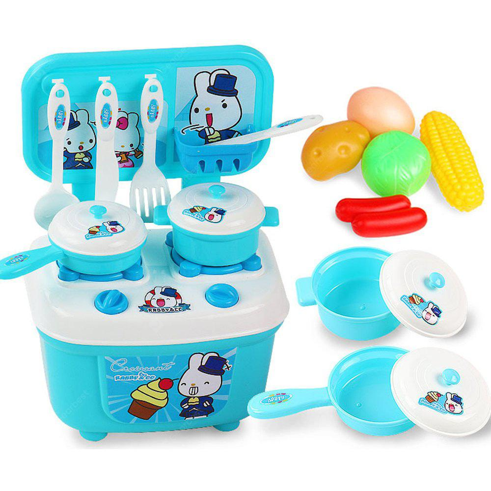 Children Kitchen Set Pretend Play Cut Toy Utensils 9-30PCS Fruit ...