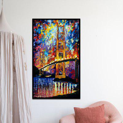 Obstract Frameless Canvas Print Home Wallart Decoration