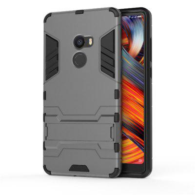 2 in 1 Bracket Phone Case for Xiaomi Mix 2Cases &amp; Leather<br>2 in 1 Bracket Phone Case for Xiaomi Mix 2<br><br>Compatible Model: Xiaomi Mix 2<br>Features: Cases with Stand, Button Protector, Anti-knock<br>Mainly Compatible with: Xiaomi<br>Material: PC, TPU<br>Package Contents: 1 x Phone Case<br>Package size (L x W x H): 16.50 x 8.50 x 1.50 cm / 6.5 x 3.35 x 0.59 inches<br>Package weight: 0.0360 kg<br>Product Size(L x W x H): 15.80 x 8.10 x 1.20 cm / 6.22 x 3.19 x 0.47 inches<br>Product weight: 0.0350 kg<br>Style: Novelty