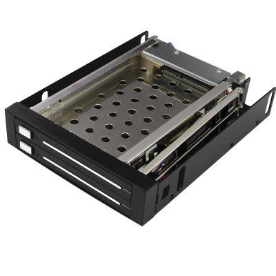 Maiwo M003 2x SATA Functional Enclosure 2.5 inch HDD/SSD Case Hard Drive Frame Mobile Rack
