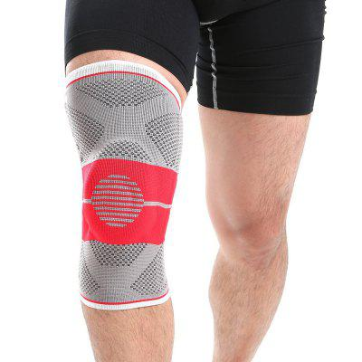 Mumian S03 Three - Dimensional Weaving Silica Gel Springs Support Red Black Knee Pad - 1PCS