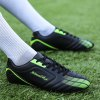 ZEACAVA Autumn Green Battlefield Fashion Trend Training Scarpe da calcio da uomo - NERO E VERDE