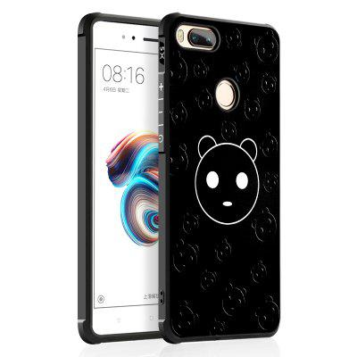 Cartoon Panda Design Ultra Slim TPU Shockproof Black Silicone Soft Back Case for Xiaomi Mi 5X