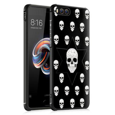 Skull Design Ultra Slim TPU Shockproof Black Silicone Soft Back Case For for Xiaomi Mi Note 3