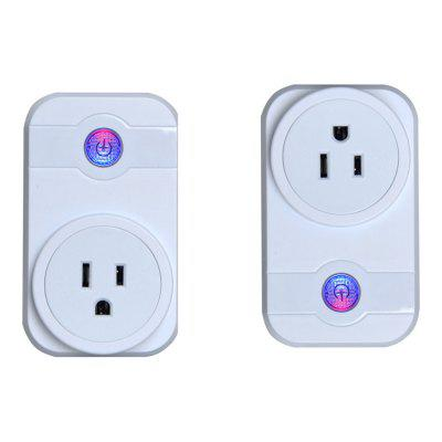 V - SWA1 Remote Control with Timing Scene Settings Function Wifi Smart Socket with Alexa Google Assistant US Plug 2 Suit