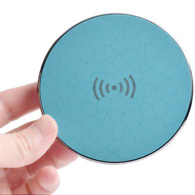 Buy BLUE CHARGER Fast Wireless Charger Qi Wireless Charging Pad Stand for iPhone 8 / 8 Plus / X Nokia Samsung Galaxy Note 8 / S8 for $7.24 in GearBest store