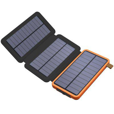 Solar Charger 8000mAh Solar Power Bank with Foldable Solar Panel Portable Rugged Water-Resistant Shockproof Dual USB