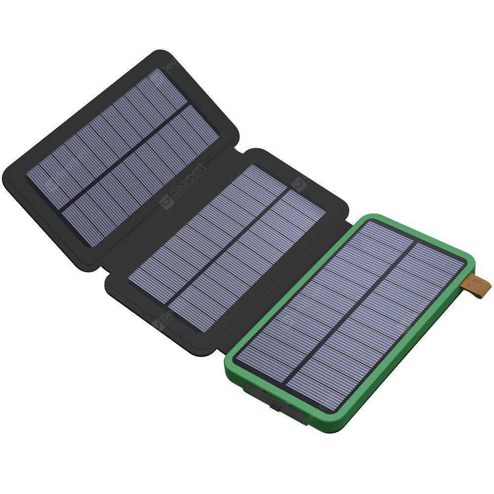 Solar Charger 8000mah Solar Power Bank With Foldable Solar