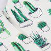 Cactus Print Vintage Dress White Women Scollo a V senza maniche Backless 2018 Summer Cactuses Abiti casual a pieghe - BIANCO