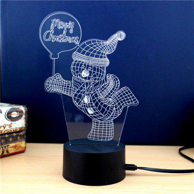 Balloon Snowman  Christmas Gift Advertising Promotion LED Touches The Color-Changing 3D Lamp USB Creative Nightlight