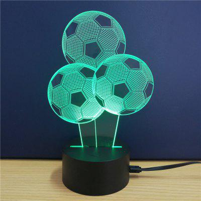 Football Gift  Advertising Promotion LED Touches The Color-Changing 3D Lamp USB Creative Nightlight