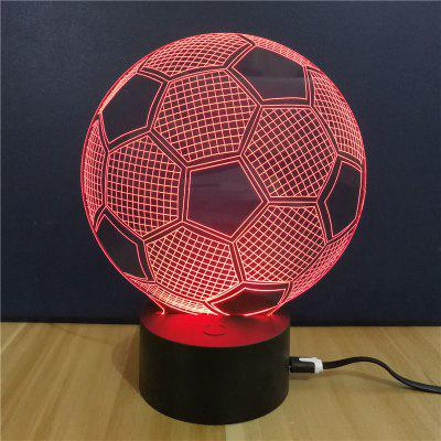 Big Football  Gift Advertising Promotion LED Touches The Color-Changing 3D Lamp USB Creative Nightlight