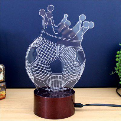 Football Crown  Gift Advertising Promotion LED Touches The Color-Changing 3D Lamp USB Creative Nightlight