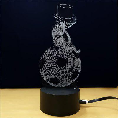 Football And Man  Gift Advertising Promotion LED Touches The Color-Changing 3D Lamp USB Creative Nightlight
