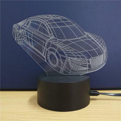 Sports Car  Gift  Advertising Promotion LED Touches The Color-Changing 3D Lamp USB Creative Nightlight