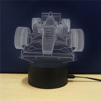 Racing  Gift Advertising Promotion LED Touches The Color-Changing 3D Lamp USB Creative Nightlight