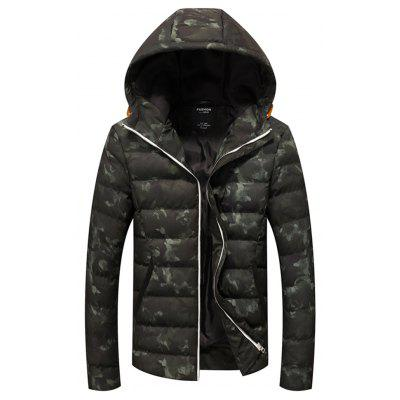 Military Camouflage Cotton Jacket Europe and The United States Men Hooded Jacket