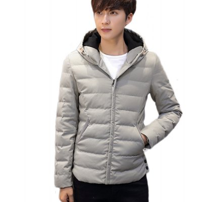 Quality Men'S Hooded Jacket Men Leisure Cotton-Padded Clothes