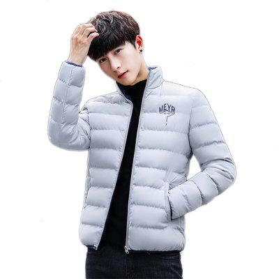 Fashion Thick Warm Coat Cotton-padded  Clothes Man Winter Cotton Coat